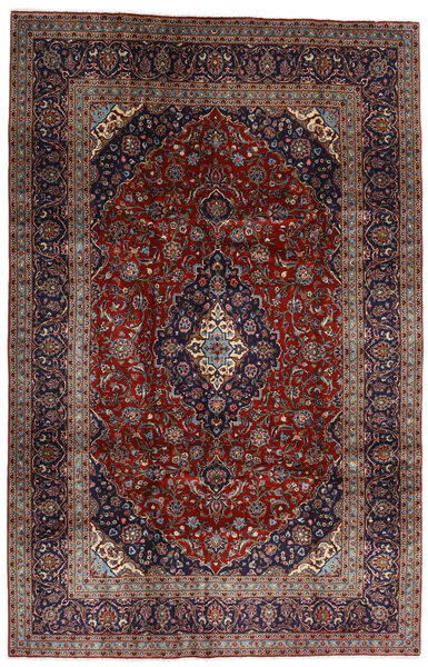Keshan Matto 205X313 Itämainen Käsinsolmittu Tummanpunainen/Musta (Villa, Persia/Iran)
