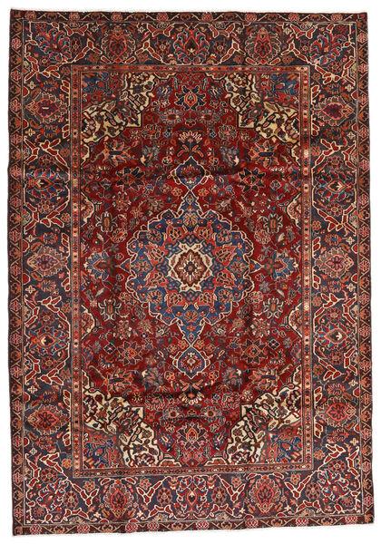 Bakhtiar Matto 213X305 Itämainen Käsinsolmittu Tummanpunainen/Musta (Villa, Persia/Iran)