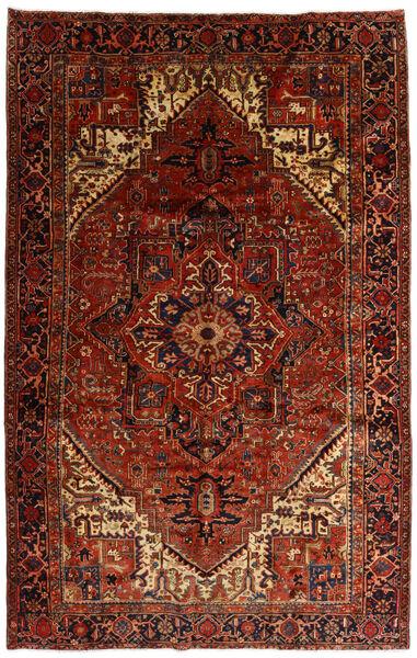 Heriz Matto 258X397 Itämainen Käsinsolmittu Tummanruskea/Tummanpunainen Isot (Villa, Persia/Iran)