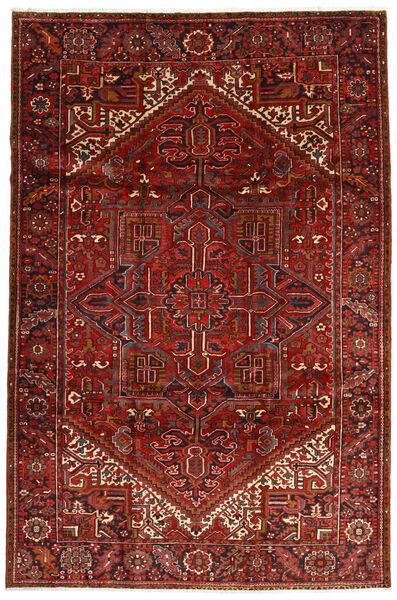 Heriz Matto 228X344 Itämainen Käsinsolmittu Tummanpunainen/Tummanruskea (Villa, Persia/Iran)
