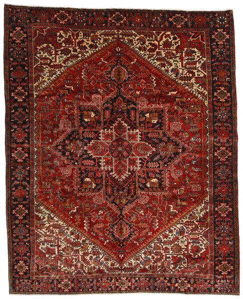 Heriz Matto 314X386 Itämainen Käsinsolmittu Tummanpunainen/Tummanruskea Isot (Villa, Persia/Iran)