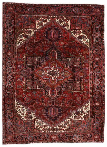 Heriz Matto 210X282 Itämainen Käsinsolmittu Tummanpunainen (Villa, Persia/Iran)