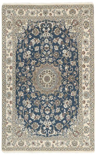 Nain 9La Matto 132X213 Itämainen Käsinsolmittu Tummanharmaa/Vaaleanharmaa/Beige (Villa/Silkki, Persia/Iran)
