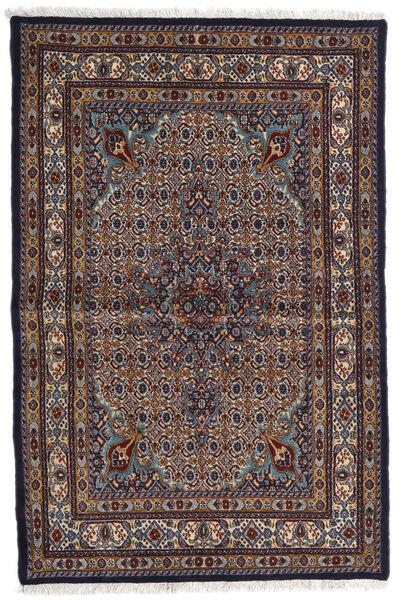 Moud Matto 98X150 Itämainen Käsinsolmittu Tummanruskea/Vaaleanharmaa (Villa/Silkki, Persia/Iran)