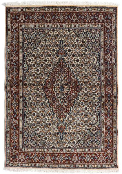 Moud Matto 98X143 Itämainen Käsinsolmittu Vaaleanharmaa/Musta (Villa/Silkki, Persia/Iran)