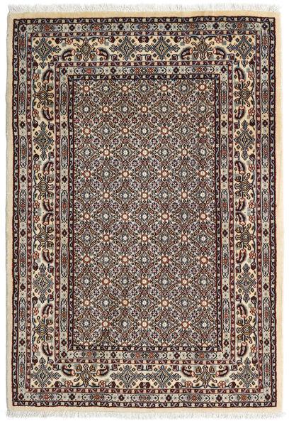 Moud Matto 100X146 Itämainen Käsinsolmittu Tummanruskea/Vaaleanharmaa (Villa/Silkki, Persia/Iran)