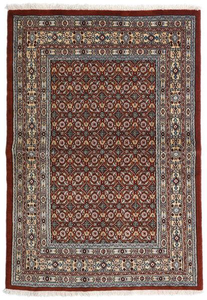 Moud Matto 97X141 Itämainen Käsinsolmittu Tummanruskea/Tummanharmaa (Villa/Silkki, Persia/Iran)