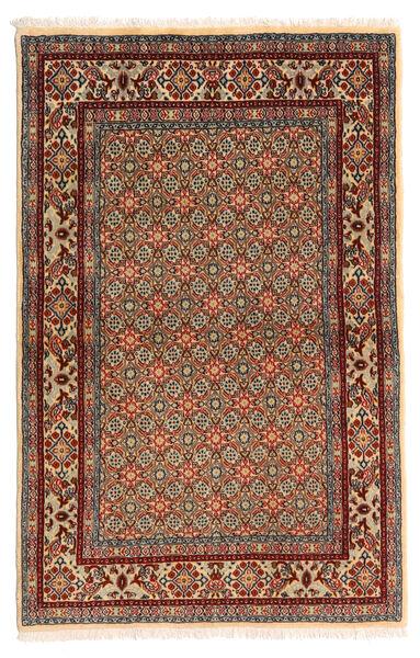 Moud Matto 97X150 Itämainen Käsinsolmittu Tummanruskea/Vaaleanruskea (Villa/Silkki, Persia/Iran)