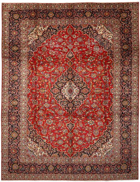 Keshan Matto 297X390 Itämainen Käsinsolmittu Tummanruskea/Tummanpunainen Isot (Villa, Persia/Iran)