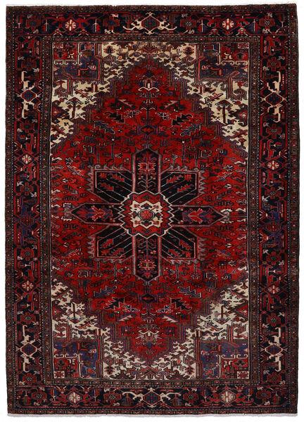 Heriz Matto 207X288 Itämainen Käsinsolmittu Tummanruskea/Tummanpunainen (Villa, Persia/Iran)