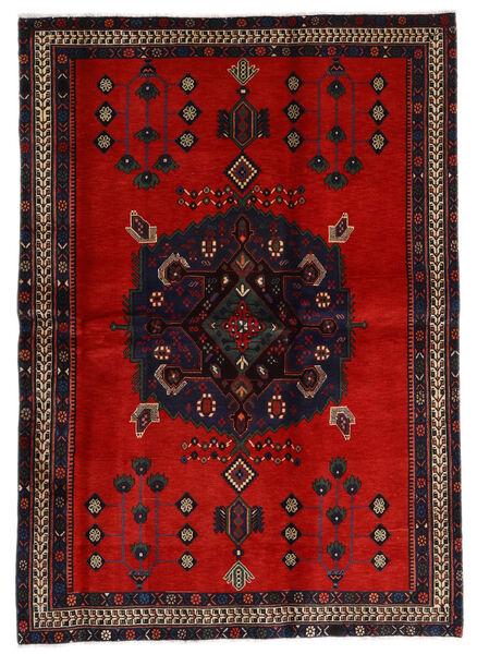 Afshar Matto 168X235 Itämainen Käsinsolmittu Tummanruskea/Ruoste (Villa, Persia/Iran)