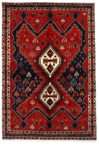 Afshar Matto 159X233 Itämainen Käsinsolmittu Tummanpunainen/Ruoste (Villa, Persia/Iran)