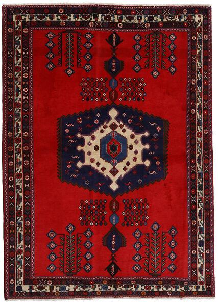 Afshar Matto 171X237 Itämainen Käsinsolmittu Tummanpunainen/Ruoste (Villa, Persia/Iran)