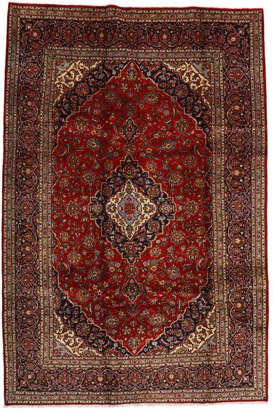 Keshan Matto 206X308 Itämainen Käsinsolmittu Tummanpunainen/Tummanruskea (Villa, Persia/Iran)