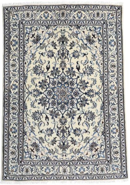 Nain Matto 166X240 Itämainen Käsinsolmittu Valkoinen/Creme/Musta (Villa, Persia/Iran)