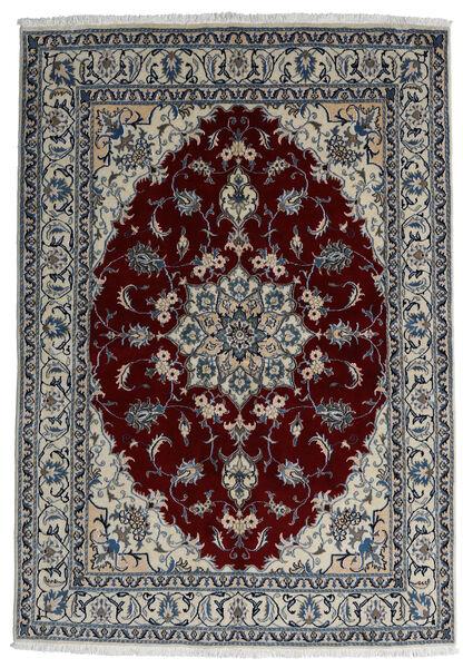 Nain Matto 166X238 Itämainen Käsinsolmittu Tummanharmaa/Tummanpunainen/Vaaleanharmaa (Villa, Persia/Iran)