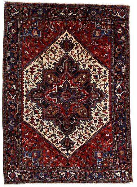 Heriz Matto 210X290 Itämainen Käsinsolmittu Tummanpunainen (Villa, Persia/Iran)