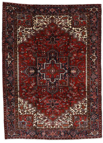 Heriz Matto 212X290 Itämainen Käsinsolmittu Tummanpunainen/Tummanruskea (Villa, Persia/Iran)