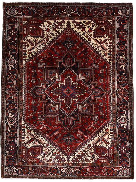 Heriz Matto 206X270 Itämainen Käsinsolmittu Tummanpunainen (Villa, Persia/Iran)