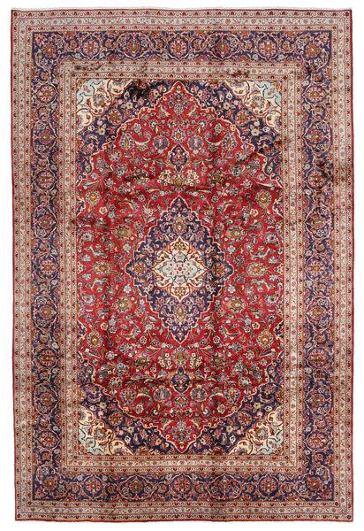 Keshan Matto 246X370 Itämainen Käsinsolmittu Tummanpunainen/Ruskea (Villa, Persia/Iran)