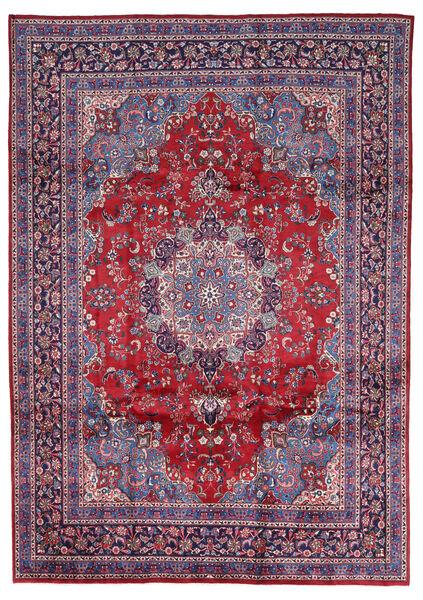 Mashad Matto 247X344 Itämainen Käsinsolmittu Vaaleanharmaa/Punainen (Villa, Persia/Iran)