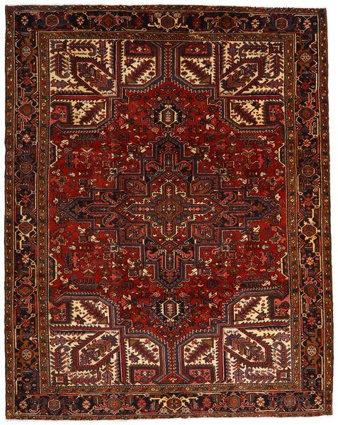 Heriz Matto 257X322 Itämainen Käsinsolmittu Tummanpunainen/Tummanruskea Isot (Villa, Persia/Iran)