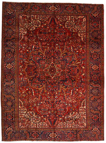 Heriz Matto 302X403 Itämainen Käsinsolmittu Tummanpunainen/Tummanruskea Isot (Villa, Persia/Iran)