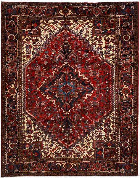 Heriz Matto 231X300 Itämainen Käsinsolmittu Tummanpunainen/Tummanruskea (Villa, Persia/Iran)