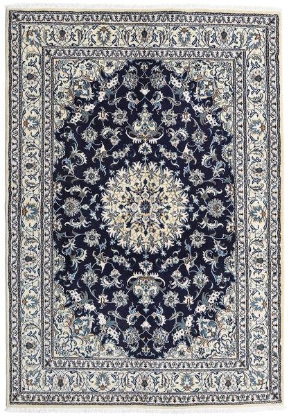 Nain Matto 163X236 Itämainen Käsinsolmittu Vaaleanharmaa/Tummanvioletti (Villa, Persia/Iran)