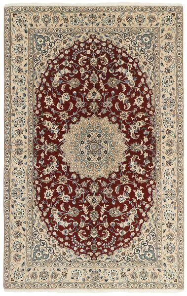 Nain 9La Matto 157X247 Itämainen Käsinsolmittu Vaaleanharmaa/Beige (Villa/Silkki, Persia/Iran)