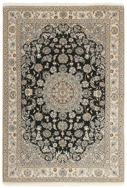 Nain 9La Matto 147X210 Itämainen Käsinsolmittu Vaaleanharmaa/Beige (Villa/Silkki, Persia/Iran)