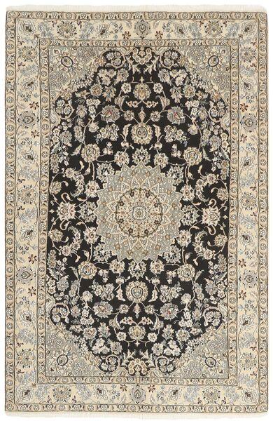 Nain 9La Matto 142X218 Itämainen Käsinsolmittu Vaaleanharmaa/Beige (Villa/Silkki, Persia/Iran)