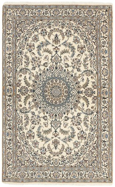 Nain 9La Matto 115X188 Itämainen Käsinsolmittu Vaaleanharmaa/Beige (Villa/Silkki, Persia/Iran)