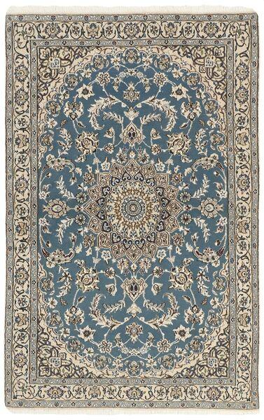 Nain 9La Matto 116X180 Itämainen Käsinsolmittu Vaaleanharmaa/Tummanharmaa (Villa/Silkki, Persia/Iran)