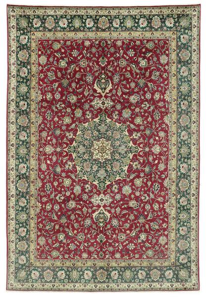 Tabriz 50 Raj Matto 245X362 Itämainen Käsinsolmittu Tummanharmaa/Tummanpunainen (Villa, Persia/Iran)