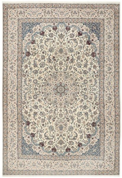 Nain 6La Matto 260X380 Itämainen Käsinsolmittu Vaaleanharmaa/Beige Isot (Villa/Silkki, Persia/Iran)