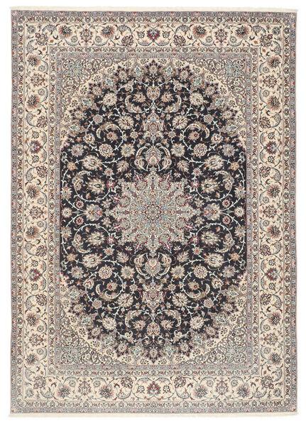 Isfahan Silkkiloimi Matto 253X360 Itämainen Käsinsolmittu Vaaleanharmaa/Musta Isot (Villa/Silkki, Persia/Iran)
