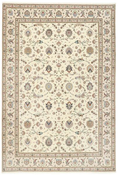 Tabriz 50 Raj Silkillä Matto 250X352 Itämainen Käsinsolmittu Vaaleanharmaa/Beige Isot (Villa/Silkki, Persia/Iran)