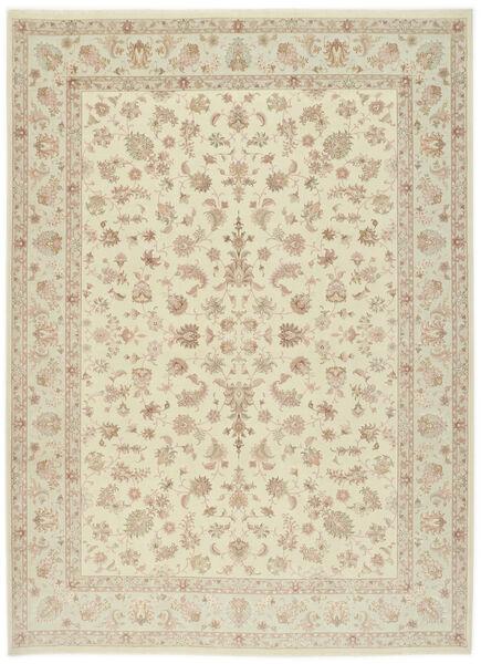 Tabriz 60 Raj Silkkiloimi Matto 255X343 Itämainen Käsinsolmittu Beige/Tummanbeige Isot (Villa/Silkki, Persia/Iran)