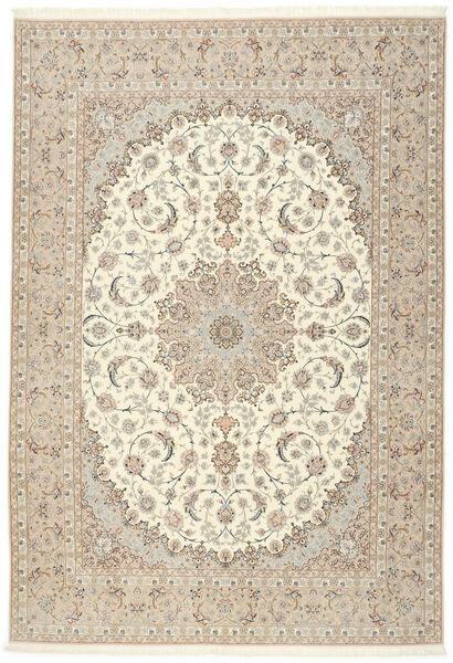 Isfahan Silkkiloimi Matto 255X366 Itämainen Käsinsolmittu Beige/Vaaleanharmaa Isot (Villa/Silkki, Persia/Iran)