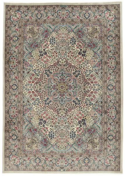 Kerman Sherkat Farsh Matto 250X350 Itämainen Käsinsolmittu Vaaleanharmaa/Tummanharmaa Isot (Villa/Silkki, Persia/Iran)