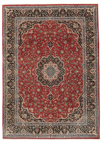 Ilam Sherkat Farsh Matto 248X340 Itämainen Käsinsolmittu Tummanpunainen/Tummanharmaa (Villa/Silkki, Persia/Iran)