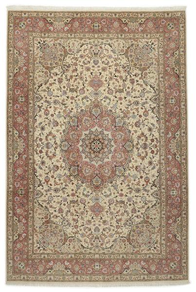 Tabriz 50 Raj Silkillä Matto 245X360 Itämainen Käsinsolmittu Vaaleanharmaa/Vaaleanruskea (Villa/Silkki, Persia/Iran)