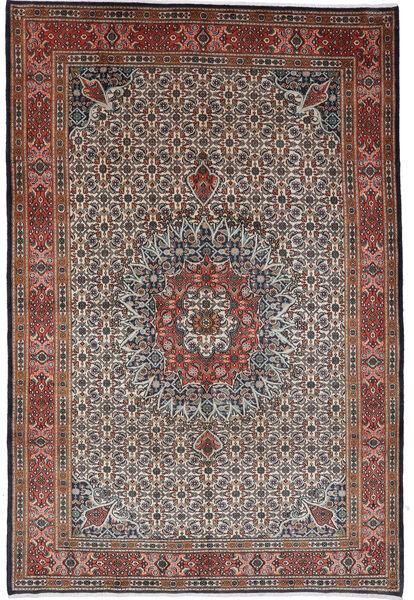 Moud Matto 262X364 Itämainen Käsinsolmittu Tummanruskea/Tummanpunainen Isot (Villa/Silkki, Persia/Iran)