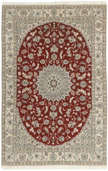 Nain 9La Matto 133X213 Itämainen Käsinsolmittu Vaaleanharmaa/Tummanpunainen (Villa/Silkki, Persia/Iran)