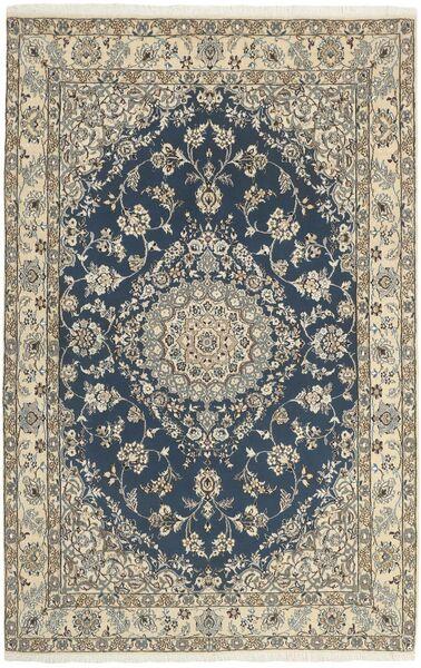 Nain 9La Matto 130X204 Itämainen Käsinsolmittu Vaaleanharmaa/Tummanharmaa (Villa/Silkki, Persia/Iran)