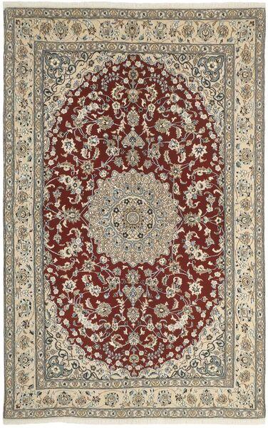 Nain 9La Matto 160X248 Itämainen Käsinsolmittu Vaaleanharmaa/Tummanpunainen (Villa/Silkki, Persia/Iran)