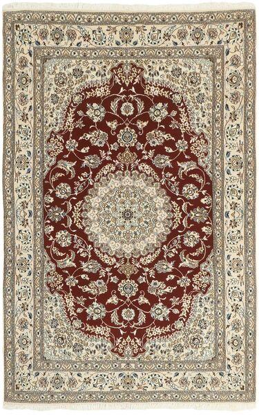 Nain 9La Matto 150X239 Itämainen Käsinsolmittu Vaaleanharmaa/Tummanruskea/Beige (Villa/Silkki, Persia/Iran)