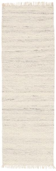 Chinara - Natural/Valkoinen Matto 80X250 Moderni Käsinkudottu Käytävämatto Beige (Villa, Intia)