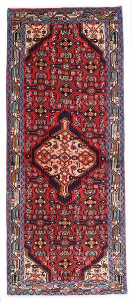 Hamadan Matto 77X189 Itämainen Käsinsolmittu Käytävämatto Tummanpunainen/Musta (Villa, Persia/Iran)